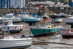 Uneven keels, Aberaeron (Explore) (babs pix) Tags: aberaeron aberaeronharbour ceredigion boats harbour harbourmasterhotel cardiganbay westwales yachts fishing fishingboat