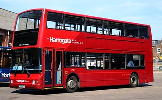 The Harrogate Bus Company (Transdev Yorkshire) 2720 V69 MOA on loan at York for racecourse shuttles.