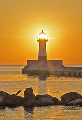 North Shore Lighthouse (f/ames) Tags: lighthouse sunrise lakesuperior minnesota duluth beautiful colors canon5d mkii