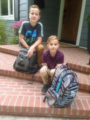 first day (DJHuber) Tags: elijah marcus firstdayofschool schoolboys 2018 september