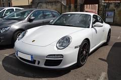Porsche 911 Carrera GTS 997 MKII (Monde-Auto Passion Photos) Tags: voiture vehicule auto automobile porsche 911 carrera gts coupé blanc white sportive 997 france fontainebleau