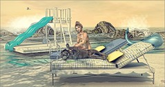 *Sky above my head, sand beneath my feet. Life is good* ❤️ (Ⓐⓝⓖⓔⓛ (Angeleyes Roxley)) Tags: chaise outdoor citrus mainstore chez moi whale float ocean deck sl secondlife avatar jian single couple adult fun beach texture