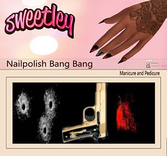 Bang Bang Add (Sweetley SL) Tags: gift 1l secondlife sweetley bullethole splatter blood guns bento applier new release free marketplace mainstore