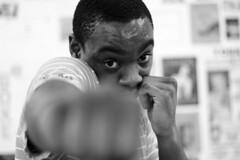 Jean-Christophe (Régis Dubois) Tags: coupdepoing bam boxeur boxe boxing face coup direct subjectif noir black