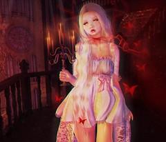 Crimson.. (.❤.ρµmþkïñ.❤.) Tags: crimson crimsonpeak red blood spooky ghost victorian secondlife 2endlife avatar myavatar inspired