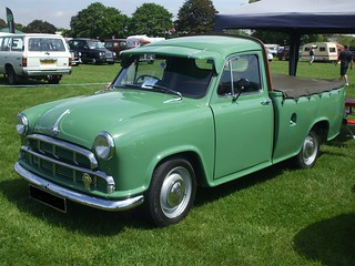 Vintage Classic Car  1950's Green Morris Oxford Series III Half Ton Pick Up Enfield Pageant Of Motoring