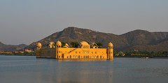 Jal Mahal in Jaipur, Rajasthan, India (phuong.sg@gmail.com) Tags: ancient architecture asia asian attraction beautiful blue building calm city color colorful day daylight famous gold golden green heritage hill hinduism historic historical india indian jaipur lake landmark landscape mahal mughal old orange outdoors palace peaceful rajasthan sagar scenery sightseeing sky tourism tranquil travel view water yellow