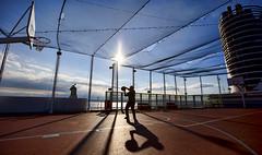 Cruise ship Hoops (Natasha Reed Photography) Tags: basketball shipboard hoops silhouette eurodam holland america