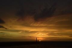 Last of the sun.... (karen leah) Tags: sunset dusk nightfall sky clouds beauty colour nature outdoors sea coast aberystwyth tanybwlch