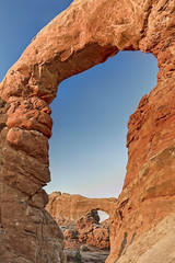Rococo (El Justy) Tags: clearskies bluesky sky southwest justinrice photography beautifulplanet beautifulearth beautiful earth erosion rockformations awesome amazing exploration exploring explore landscapephotography sun heat hot outdoors scenery nature landscape travelphotography summer travel vacation americana usa park nationalpark arches utah archesnationalpark turretarch