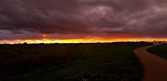 Fire at the Horizon (Peter ( phonepics only) Eijkman) Tags: zaandam zaanstad zaan zaanstreekwaterland sun sunset sundown zon zonsondergang nederland netherlands nederlandse noordholland holland