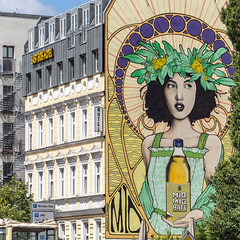 mate (bilderkombinat berlin) Tags: ⨀2018 berlin hotel capital eastside friedrichshain signs city eu advertising europa building 11 germany