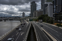 turbot street (Greg Rohan) Tags: traffic car cars roads road architecture bridge buildings building clouds stormy storm queensland brisbane brissy australia d750 2018 nikon nikkor city sky