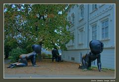 Crawling Babies - 1 (cienne45) Tags: carlonatale cienne45 natale praha buildings architecture praga prague bronzechildren barcode davidcerny sculptures kampa kampaislan crawlingbabies