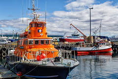 Reykjavik Harbor (trochford) Tags: harbor boat boats water dock wharf pier sunny sky clouds ársæll rescue rescueboat orange colorful reykjavik capitalregion iceland is canon canon6d ef24105mmf4lisusm ef24105