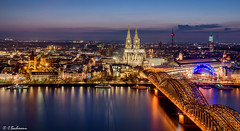 The beauty of Cologne (Germany) (bachmann_chr) Tags: köln cologne cathedral panorama dom rhein triangle rhine river blue hour night blaue stunde
