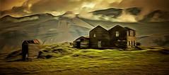 From Iceland. (Tóta. 27.12.1964.) Tags: landscape mountain oldhouse grass clouds sky iceland ísland