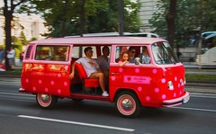 pink dots (try...error) Tags: vw bus red bully bulli classic car parade days vienna wien