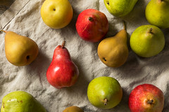 Raw Organic Assorted Pears (brent.hofacker) Tags: assortedpears autumn background delicious diet food fresh freshness fruit fruity green group half harvest healthy ingredient juicy leaf natural nature nutrition organic pear pears piece plant raw ripe seed snack stem summer sweet tasty vegan vegetarian vitamin yellow