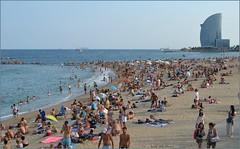 Playa de la Barceloneta - Barcelona (Luisa Gila Merino) Tags: mediterráneo barcelona cataluña mar