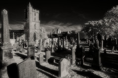 Stirling Old Town Cemetery (Shot Yield Photography) Tags: scotland uk greatbritain stirling old town british scottish historic graveyard cemetery hallowed ground grave graves tomb vault beautiful death creepy scary spooky eerie place haunted dark mystic mysterious atmosphere picture shot yield photography black white bw monochrome ir infra red infrared shotyieldphotography