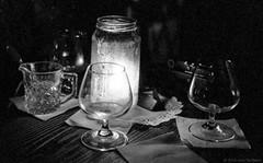 Sydney, 2016  #535 (lynnb's snaps) Tags: 35mm baxterinn iiic ltm leica leicaiiic rff sydney tmaxdeveloper tmax3200 bw city film night people street cv35mmf25colorskoparltm blackandwhite bianconegro blackwhite bianconero biancoenero blancoynegro noiretblanc monochrome schwarzweis ishootfilm stilllife candle glass bar 2016 ©copyrightlynnburdekinallrightsreserved