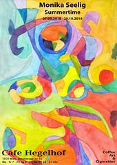 Sumertime 7.9.2018-20.10.2018 #hegelhof #CoffeeArtAndCigarettes (Monika Seelig) Tags: monikaseelig exhibition coffeeartandcigarettes art ausstellung hegelhof wien