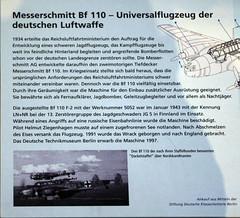 5052 Messerschmitt Bf110 msn 5052 LN+NRBoard (eLaReF) Tags: 5052 messerschmitt bf110 msn lnnr board berlin deutsches technik museum technikmuseum