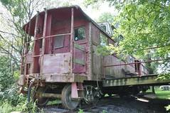Ephrata, Pennsylvania (6 of 18) (Bob McGilvray Jr.) Tags: ephrata pa pennsylvania caboose steel cupola rusty rust railroad train tracks prr pennsylvaniarailroad conrail cr penncentral static private business