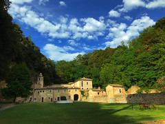 Hermitage of white friars - Italy - Cupramontana (Uscè (OFF,OFF!!!!!)) Tags: countryside colours view sky skyline panorama green bleu nature exposure marche italy cupramontana landscape texture eugenio coppari uscè iphone7 country light clouds architecture sun eremofratibianchi