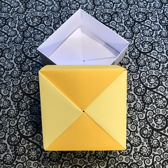 ORIGAMI BOXES (10) (JOHN MORGANs OLD PHOTOS.) Tags: made by john morgan 160 gsm card for my ribbon brooches origami boxes box