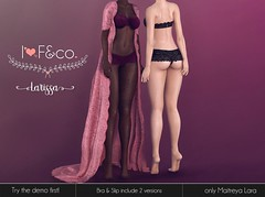 Larissa (Ainadara Resident) Tags: i3f i3fco maitreya fashion original mesh event exclusive underwear gown outfit bra slip panty lace lingerie robe coat froufrou
