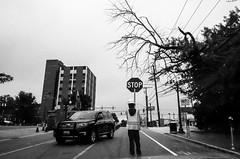 Stop, Silver Spring, MD (Jordan Barab) Tags: silverspring washingtondc blackandwhite bw street streetphotography sonydscrx100markiii maryland construction worker