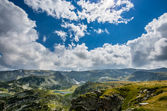 7 Rila lakes HDR (Quetzalcoalt0) Tags: canon 6d 1530 1530mm seven 7 rila lakes mountain blue sky clouds cloud sun panorama hdr lake green grass