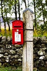 Old School Red Post Box (broadswordcallingdannyboy) Tags: highlands scotland cairngorms 70200mm ef70200mmf4lisusm leonreillyphotography copyright donotcopy mood eos7d 2018 zoomlens scottishscene scottishhighlands leonreilly postbox red post box letterbox postoffice britishnationalpark oldschool redpostbox