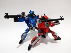 Lego moc - Macross / Robotech Milia & Max VF-1J (c_s417) Tags: lego moc macross robotech mech mecha vf1j sdf1 sdf max milia japanese animation cartoon plane brick bricks toys 超時空要塞