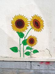 Pasted paper by Loul [Lyon, France] (biphop) Tags: europe france lyon croixrousse streetart wheatpaste wheatpaper collage pasted paper pasteup loul fleurs flowers