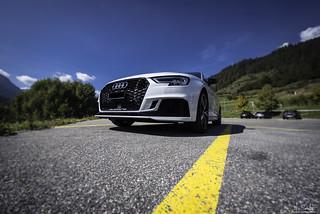 Audi RS3 in Scuol - Graubünden - Switzerland