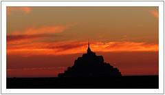 Un soir au Mont - One evening at Mont (diaph76) Tags: extérieur france paysage landscape coucherdesoleil sunset manche50 monuments normandie