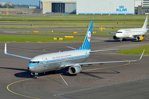 """Zwaan - Swan"" KLM Royal Dutch Airlines PH-BXA Boeing 737-8K2 Winglets cn/29131-198 @ EHAM / AMS 05-06-2016"