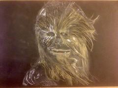 FullSizeRender (Dalekwidow) Tags: chewbacca starwars wookie charcoal drawing tintedcharcoal empirestrikesback chewie