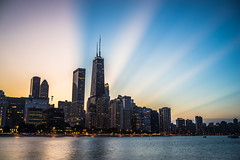 And The Lights Come On (Photographer X™) Tags: chicago windy city illinois lightroom adobe blue sky sony a7ii full frame pfc milton lee olive state park rodzilla photographerx streeterville lake michigan samyang 35mm f28 clouds streaks light architecture cityscape