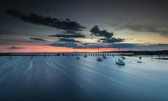 Langstone Sunset - Hampshire (E_W_Photo) Tags: langstone harbour haylingisland portseaisland hampshire sunset sea boat tide canon 80d sigma 1020mm leefilters