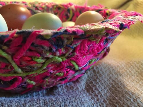 close up yarn bowl