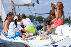 KRYC CUP 2014-4395 (amprophoto) Tags: sail sailing sailingyacht sailboat yachtrace regatta water wind white blue beneteau platu25 peoples sky sport spinnaker fun smile