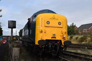 55019 ROYAL HIGHLAND FUSILIER at Loughborough, Great Central Railway