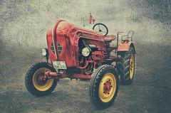 '58 Porsche Junior (Paul B0udreau) Tags: diesel tractor 1958 westniagarafair nikkor1855mm photoshop canada ontario paulboudreauphotography niagara d5100 nikon nikond5100 layer texture