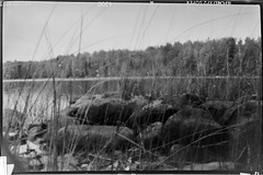 My second pinhole picture (ristoranta) Tags: neulanreikäkamera 69cm ilfordxp2super400 stone mustavalkoinen lake kivi bw järvi pinhole lohja antiainen