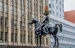 All Alone With His Floral Hat!! (BGDL) Tags: lightroomcc nikond7000 bgdl nikkor18105mm3556g urban statue dukeofwellington glasgow citycentre alone week37 weeklytheme flickrlounge