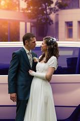 Full of love (Shumilinus) Tags: 2012 50mmf18 nikond90 autumn wedding weddingday marriage dress suit weddingdress flowers family joy happiness couple trees car limousine